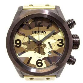 【中古】【新品同様】BRERA OROLOGI ブレラ オロロジ エテルノクロノ メンズ腕時計 SS ラバー クオーツ 文字盤迷彩 BRETC45