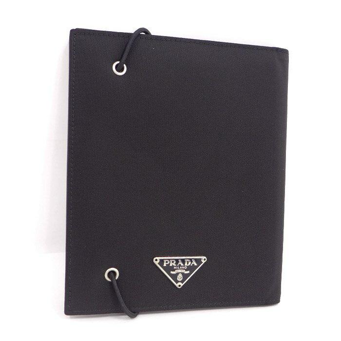 プラダ 【中古】 アジェンダ 手帳カバー ブラック ナイロン×レザー [wa]