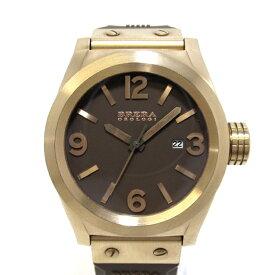 【中古】【新品同様】BRERA OROLOGI ブレラ オロロジ エテルノ メンズ腕時計 SS ラバー クオーツ 文字盤ブラウン BRETS45