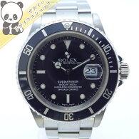 【中古】ロレックスサブマリーナデイトRef.16610K番メンズ腕時計SSAT(自動巻き)ブラック文字盤