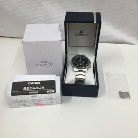 【中古】カシオ エディフィス メンズ腕時計 EQB-1000 クオーツ クロノ 黒文字盤 SS[jggW]