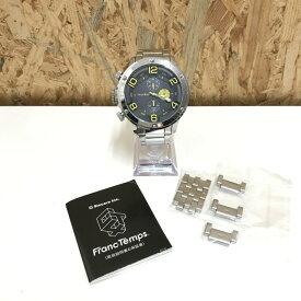 【中古】フランテンプス ガヴァルニ メンズ腕時計 クオーツ クロノグラフ SS 黒文字盤[jggW]