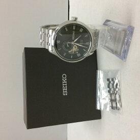 【中古】セイコー プレサージュ メンズ腕時計 4R39-00W0 自動巻き 裏スケ SS[jgg]