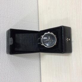 【中古】オロビアンコ テンポラーレ メンズ腕時計 OR-0014 クロコ型押し SS レザー 黒文字盤 ブラック[jgg]