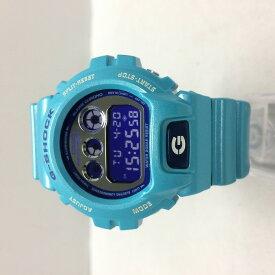 【中古】カシオ ジーショック メンズ 腕時計 DW-6900CB クオーツ クレイジーカラー ライトブルー系[jggW]
