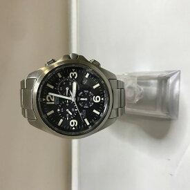 【中古】シチズン プロマスター メンズ腕時計 E610-T008313 ソーラー電波 エコドライブ SS 黒文字盤 シルバー[jgg]