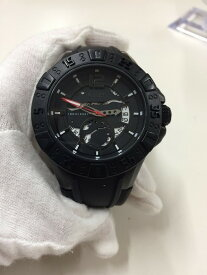 【中古】ゲス メンズ腕時計 マグナムブラック W0034G3 クオーツ SS/ラバー[jggW]