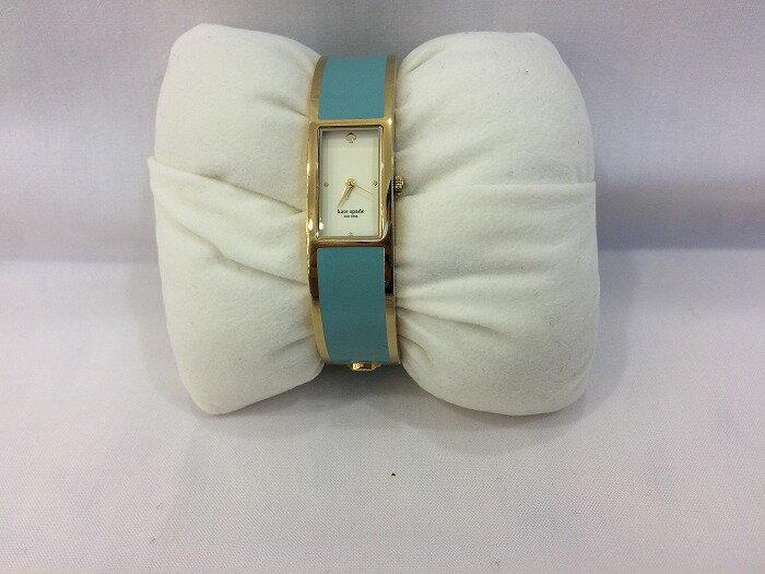 【中古】kate spade ケイトスペード バングルウォッチ レディース腕時計 カルーセル 水色 ゴールド クォーツ [jggW]