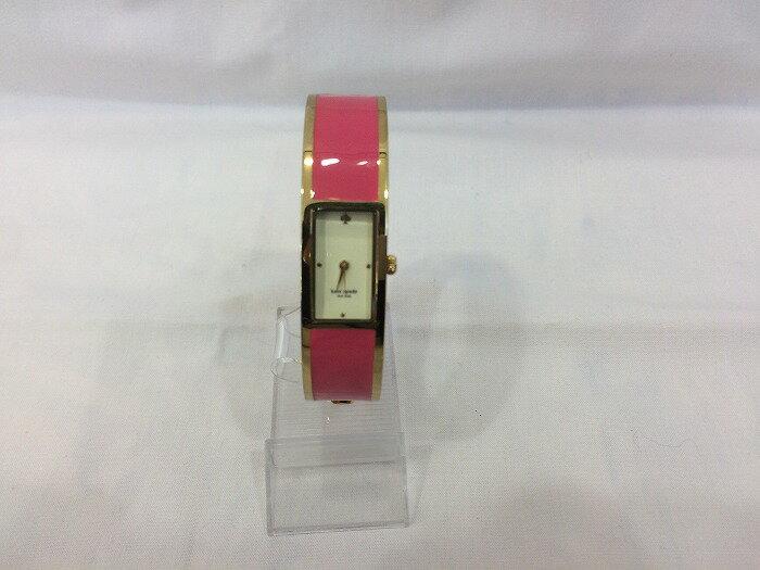【中古】kate spade ケイトスペード バングルウォッチ レディース腕時計 カルーセル ピンク ゴールド クォーツ [jggW]