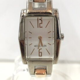 【中古】ミッシェルクラン レディース腕時計 1N00-0LP0 クオーツ SS/GP ホワイト文字盤[jggW]