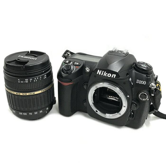 【中古】ニコン デジタル一眼レフカメラ D200 タムロン製レンズ スピードライト 三脚付[jggZ]