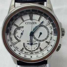 【中古】シチズン メンズ腕時計 カランドリ エコドライブ SS/レザー BU2020 02A[jggW]