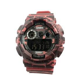 【中古】カシオ Gショック デジタル クオーツ メンズ腕時計 レッド G-SHOCK GD-120CM [fu][jggw]