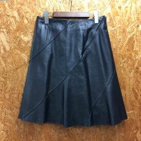 【中古】バーバリー ブルーレーベル レディース スカート シープスキン ブラック サイズ36[jggI]