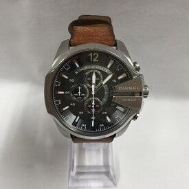 【中古】ディーゼル メンズ腕時計 メガチーフ クロノグラフ レザー ブラウン DZ4290[jggW]