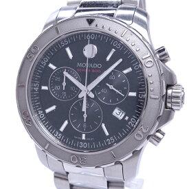 【中古】モバード シリーズ800 メンズ腕時計 クロノグラフ クォーツ SS ブラック文字盤 141141195