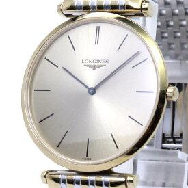 【中古】Longine グランドクラシック メンズ腕時計 クォーツ GP SS ゴールド文字盤 L4.709.2.32.7