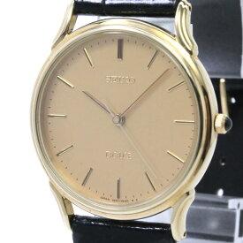 【中古】セイコー ドルチェ&エクCELINE メンズ腕時計 クォーツ K18YG ゴールド文字盤 SADV006 5E61-0A10