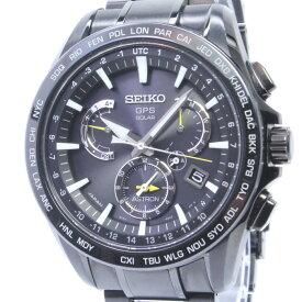 【中古】セイコー アストロン デュアルタイム メンズ腕時計 GPSソーラー SS セラミック ブラック文字盤 SBXB079 8X53-0AD0-2