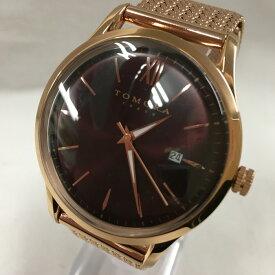 【中古】トモラトウキョウ メンズ腕時計 クォーツ GP ブラウン文字盤 T1605[jggW]
