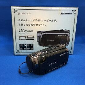 【中古】グリーンハウス 2.5型液晶画面搭載 HD対応デジタルビデオカメラ ガウディ ブラック GHV-DV25HDAK [jggZ]