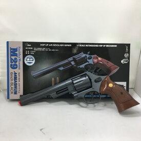 【中古】クラウン エアガン S&W M-29 44マグナム 6インチ ブラック 1/1スケール ポップ アップ エアーリボルバー 6mmBB弾 [jggZ]