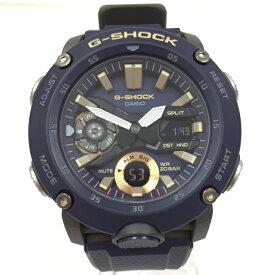 【中古】カシオ メンズ腕時計 Gショック クオーツ カーボン 樹脂バンド ネイビー文字盤 GA-2000-2AJF [jgg]