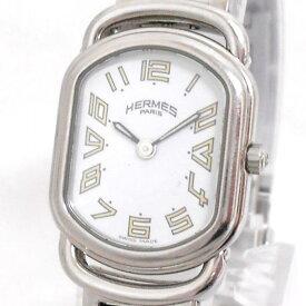 【中古】エルメス ラリー レディース腕時計 クオーツ 白文字盤 ステンレス RA1.210