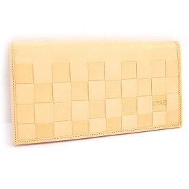 【中古】ブリー 二つ折り長財布 ヌメ革 レザー ベージュ OBRA65