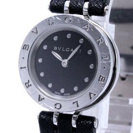 【中古】BVLGARI ビーゼロワン レディース腕時計 クォーツ SS ブラック文字盤 BZ23S