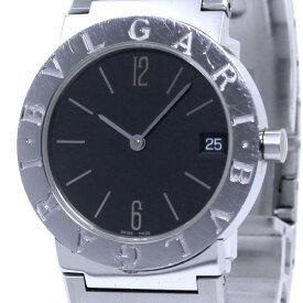 【中古】BVLGARI BVLGARIBVLGARI ボーイズ腕時計 クォーツ SS ブラック文字盤 BB30SS