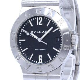 【中古】BVLGARI ディアゴノ メンズ腕時計 デイト 自動巻き SS ブラック文字盤 LCV35S
