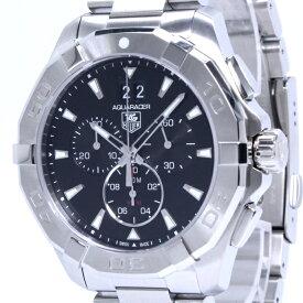 【中古】タグホイヤー アクアレーサー クロノグラフ メンズ腕時計 クォーツ SS デイト ブラック文字盤 CAY1110-0