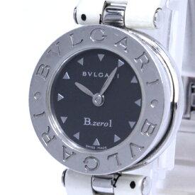 【中古】BVLGARI ビーゼロワン レディース腕時計 クォーツ SS パテントレザー ブラック文字盤 BZ22S
