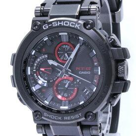 【中古】カシオ Gショック メンズ腕時計 電波ソーラー アラーム Bluetooth SS ブラック文字盤 ラバーベルト MTG-B1000B-1AJF