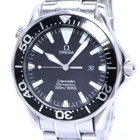 【中古】OMEGA シーマスター プロフェッショナル 300 メンズ腕時計 クォーツ デイト SS ブラック文字盤 2264.50