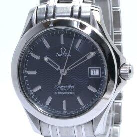 【中古】OMEGA シーマスター メンズ腕時計 デイト 自動巻き SS ネイビー文字盤 2501.81