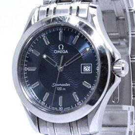 【中古】OMEGA シーマスター メンズ腕時計 クォーツ デイト SS ネイビー文字盤 2511.81