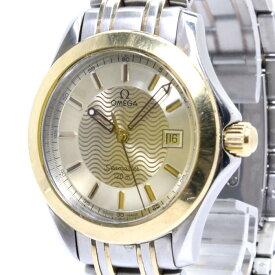 【中古】OMEGA シーマスター メンズ腕時計 デイト クォーツ SS YG ゴールド文字盤 1501.823