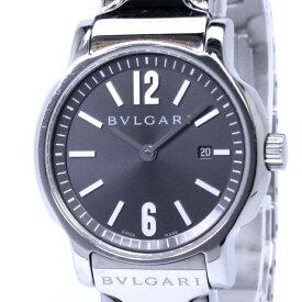 【中古】BVLGARI ソロテンポ レディース腕時計 デイト クォーツ SS グレー文字盤 ST29S