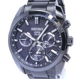 【中古】セイコー アストロン 50周年記念1500本限定モデル 替えベルト付 メンズ腕時計 GPSソーラー SS ブラック文字盤 SBXC023 5X53-0AK0