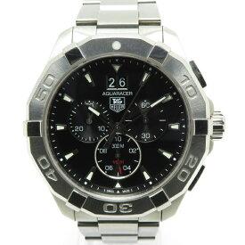 【中古】タグホイヤー アクアレーサー クロノグラフ 腕時計 メンズ SS クォーツ ブラック文字盤 CAY1110