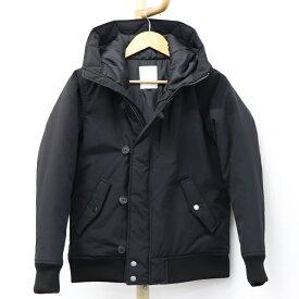 【中古】アヴィレックス ダウンジャケット フード付き ブラック ユニセックス 表記サイズM
