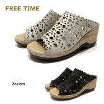 フリータイム ( FREE TIME ) レディース サンダル 靴 ミュール 品番33222幅 3E 厚底  日本製 アモーラエイカ AMORA