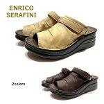 エンリコ セラフィニ ( ENRICO SERAFINI ) レディース サンダル 靴 ミュール 品番4039幅 3E 厚底  2WAYサンダル バックバンド マジックベルト アモーラエイカ AMORA