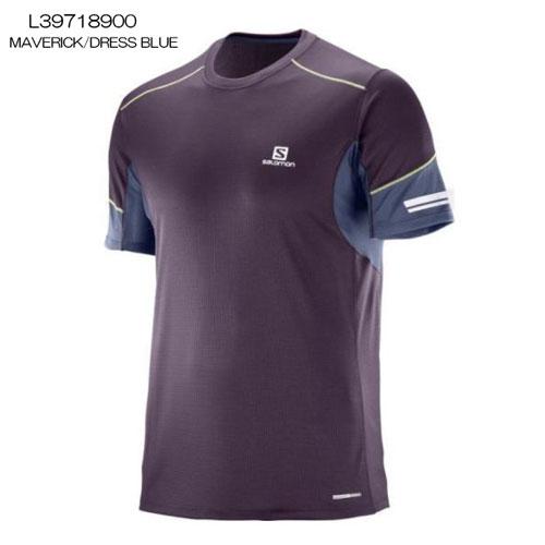 ◎サロモン L39718900・AGILE SS TEE M/アジャイル ショートスリーブTシャツ メンズ(MAVERICK/DRESS BLUE)【41%OFF】
