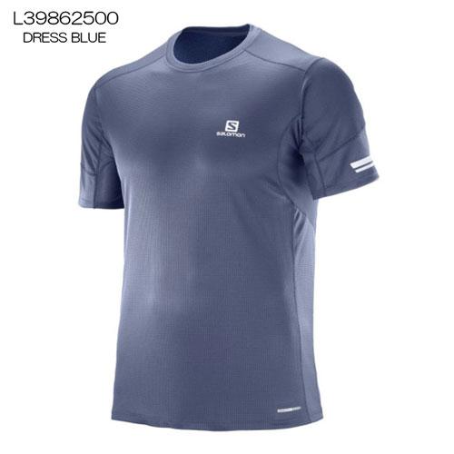 ◎サロモン L39862500・AGILE SS TEE M/アジャイル ショートスリーブTシャツ メンズ(DRESS BLUE)【41%OFF】