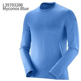 ◎サロモン L39703200・PULSE LS TEE M/パルス ロングスリーブ ティー メンズ(Myconos Blue)【60%OFF】