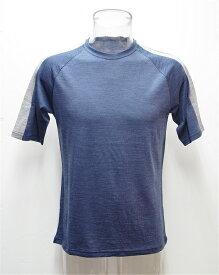 【メリノウール祭】(4)WAIPOUA(ワイポウア) I522・メリノウール Men's肩ラインショートTシャツ【50%OFF】