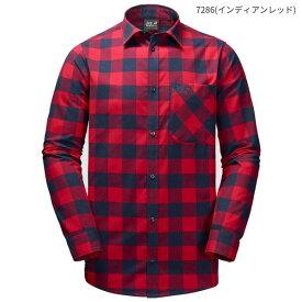 ○ジャックウルフスキン W1402551_7286・レッドリバーシャツ メンズ(インディアンレッド)【50%OFF】
